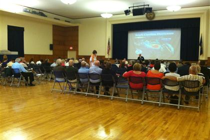 Photo of attendees at the coastal public hearing
